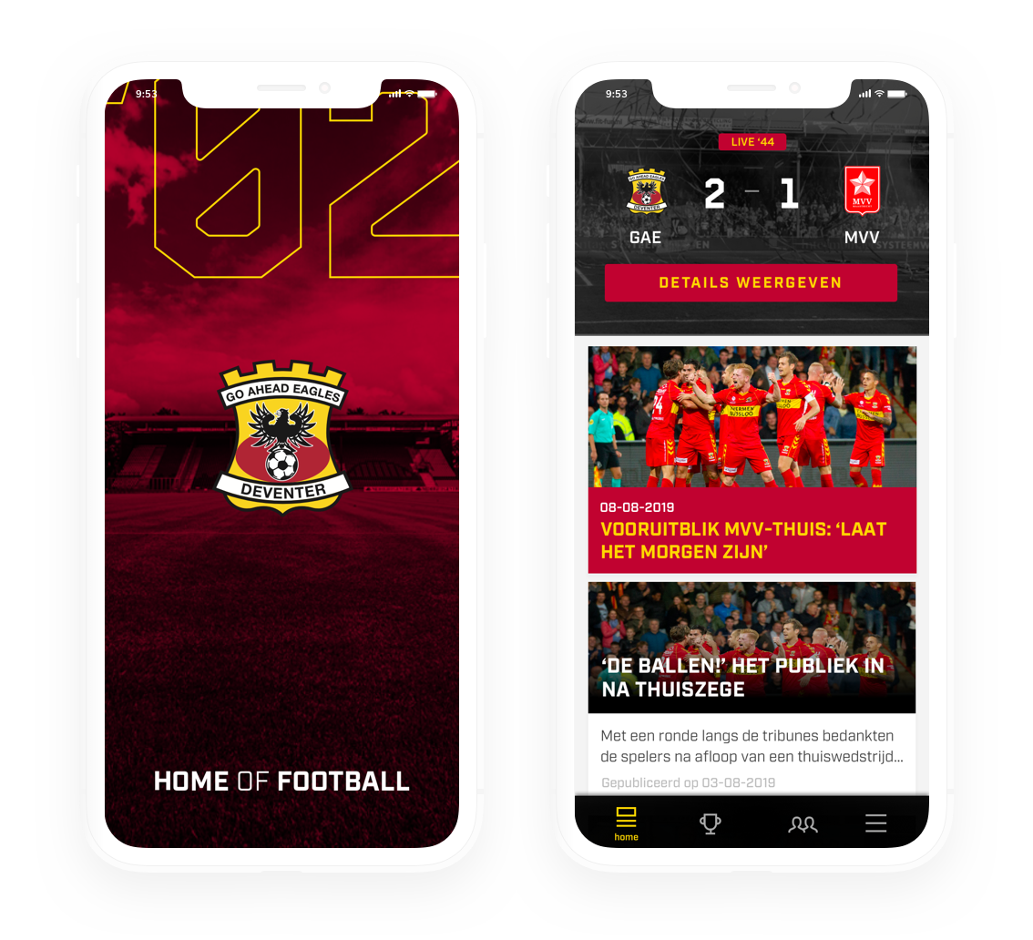 Go Ahead Eagles app